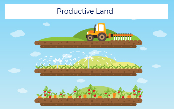 Conversion of Barren Land to Productive Land